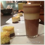 Drie kleuren chocolade-pannacotta