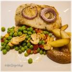Tarbot, aardappelen, groentes