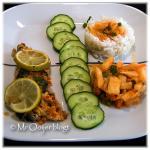 Rijst met hete Makreel en Daikon Kimchi