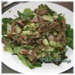 Thaise rundvleessalade met een Chinese draai