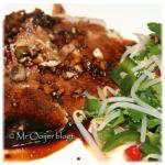 Varkensvlees met zoet-scherpe saus