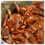 Gekookt en gegrild lamsvlees