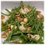 Salade haricots verts, walnoten en blauwe kaas