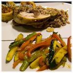 Gegrilde groenten in een citrusvruchten-saus
