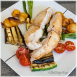 Corvina met gegrilde groentes